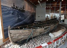 16th century Basque whale boat, Red Bay, Labrador