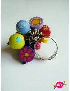 Bague Fimo Polymer Clay Ring, Artsy Fartsy, Jewelry Box, Colorful, Jewels, Rings, Flowers, Clothes, Fimo