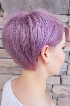 Pixie Cut For Thick Hair #lavenderhair #shortbob #longpixie ❤️ A long pixie cut is pretty advantageous. It is a nice way to cut your hair short and, in the same time, to preserve some length. During the summer heat, it is the perfect way to save yourself from heavy sweating. Check out the gallery to have some inspiration to change your style to new season! ❤️ See more: #lovehairstyles #hair #hairstyles #haircuts