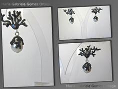 Orecchini in #argento con #perla e smalto nero