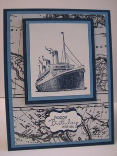 (Nacho Average Challenge #105) Birthday Ship by BK cards - Cards and Paper Crafts at Splitcoaststampers