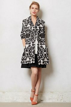 Lovely for you -- except we'd need to see where the center of the graphic hits you.  Could be unfortunate alignment ! Hesa Cord Coat #anthropologie