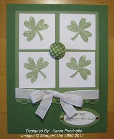 cute. will use small heart punch for shamrock.