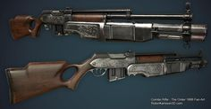 Combo Rifle - The Order 1886 Fan Art, Robin Karlsson on ArtStation at https://www.artstation.com/artwork/combo-rifle-the-order-1886-fan-art
