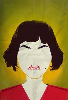 Amélie: Haz un resumen [crítico] del argumento de la película. [Póster minimalista de cine para la clase de ELE.]