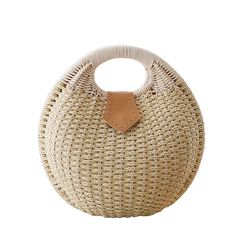 Cunada® Women Hand-woven Straw Shell Clutch Bags Beige. Shape:Shell. Material:Natural Straw. Popular elements:Weaving. Available in 5 colors,a essential accessory for both women and girls. A great accessory for summer,beach,weekend,dating and other occasion.