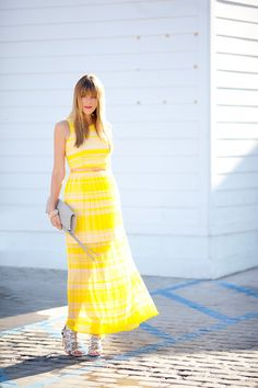 yellow and stripes and pleats oh my!