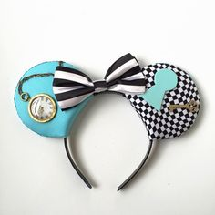 A personal favorite from my Etsy shop https://www.etsy.com/listing/231560617/alice-mouse-ears-alice-in-wonderland