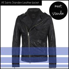 men's shopping list: All Saints Standen Leather Jacket