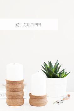 Unterständer und Kerzensetzer | DIY | bildschönes | Bloglovin'