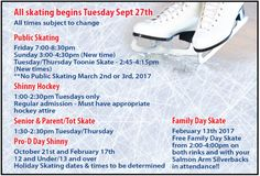 Salmon Arm Recreation and Shaw Center - Public Skating & Shinny