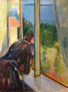 Inger By The Window by Edvard Munch Handmade oil painting reproduction on canvas for sale,We can offer Framed art,Wall Art,Gallery Wrap and Stretched Canvas,Choose from multiple sizes and frames at discount price. Claude Monet, Edward Munch, Amedeo Modigliani, Paul Gauguin, Oil Painting Reproductions, Art Moderne, Art Graphique, Kandinsky, Klimt
