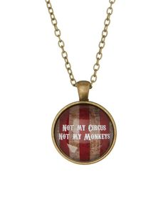 Look at this Antique Goldtone 'Not My Circus' Pendant Necklace on #zulily today!