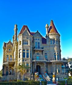 Bishop's Palace, an ornate, castle-like Victorian Style House in Galveston, Texas xox