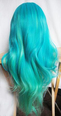 Turquoise & Teal Mermaid Hair / Wig