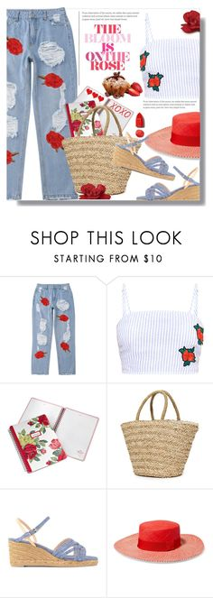 """""""The Bloom Is On The Rose"""" by queenvirgo ❤ liked on Polyvore featuring Cath Kidston, Sundry, Castañer, Sensi Studio and NARS Cosmetics"""