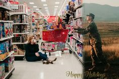Military Wife Includes Deployed Husband in Sweet Christmas Card Family Christmas Cards, Christmas Photos, Holiday Cards, Family Holiday, Holiday Ideas, Military Family Pictures, Deployment Party, Military Wife, Military Families