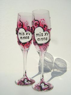 Sweet 16 Birthday party champagne glasses