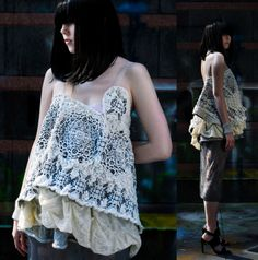 Jacquard layering - Rochele Gloor Knitwear - FIT Graduate Collection