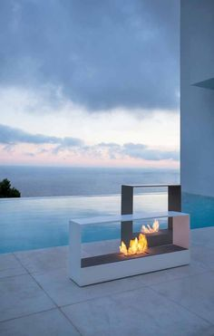 If I had this view I wouldn't care what the fireplace looked like!!