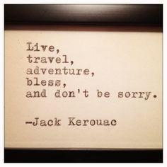 Jack Kerouac Framed Quote Made on Typewriter via Etsy.