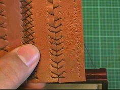 【革の縫い方⑧】:ベースボールステッチ-1<1本針>の縫い方