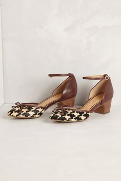 Alma Houndstooth D'Orsays - Anthropologie.com