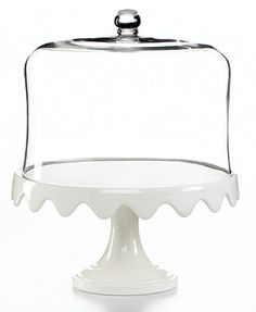 Martha Stewart Collection Serveware, Scalloped Cake Stand and Dome