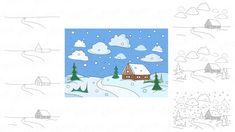 Jak narysować krajobraz zimowy