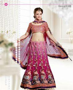 Classy Deep Purple, Magenta & Pale Pink Lehenga Choli [ADF28682] $191.13 - Buy fashion wear online, Buy Indian wear Online by A1designerwear.com