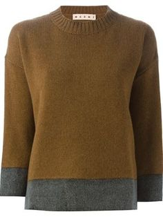contrasted hem and cuff sweater