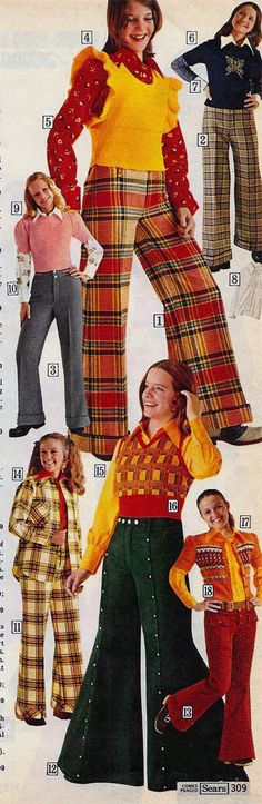 From the Sears 1973 catalog Yes, we really wore this stuff.  And we thought we were cool.
