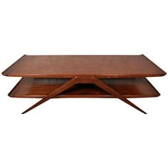 Distinct Double Tier Table w/ Flaired Edges Unique Vintage, Retro Vintage, Mid Century Modern Table, Modern Coffee Tables, Cocktail Tables, Table Furniture, Mid-century Modern, Side Tables, Antiques
