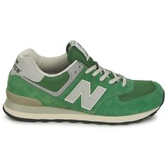 New Balance 574 Women's Green Grey Ml574