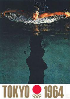 Plakat für die Olympischen Spiele in Tokyo 1964. Design by Yusaku Kamekura