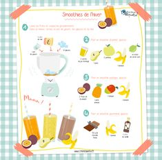 Winter smoothies - With this grayish weather, nothing better than a good smoothie to cheer up! Find all our recipes on - Winter Smoothies, Smoothies For Kids, Good Smoothies, Healthy Breakfast Smoothies, Healthy Drinks, Healthy Smoothie, Smoothie Recipes With Yogurt, Yogurt Smoothies, Strawberry Smoothie