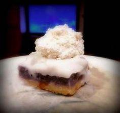Sweet Potato Haupia Pie (copycat of Ani's Bakery in Aiea/Halawa Okinawan Sweet Potato, Haupia Pie, Tropical Desserts, Plate Lunch, My Pie, Lamb Recipes, Seafood, Sweet Tooth, Potato Pie