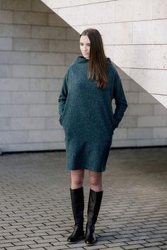 Woolen Dress Motumo 15FW8 by MotumoLinen on Etsy