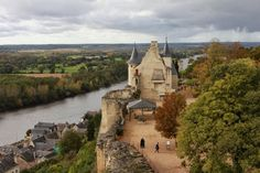 Medieval Town in the Loire Valley, France