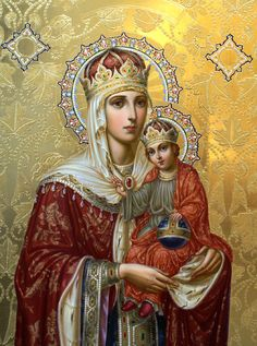 "Icon of the Mother of God, named ""Hodegetria"", which in Russian means ""Putevoditel'nitsa"" or ""Way-Guide"", or ""She who shows the Way"";"
