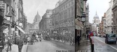 victorian london fleet street | London then and now – Fleet Street from David Perdue's Charles ...