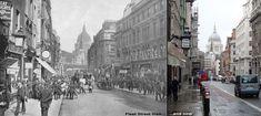 Dicken's London: Fleet Street then and now