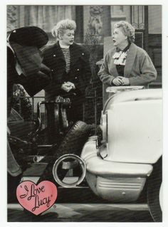 I Love Lucy # 43 - Lucy Learns to Drive - 50th Anniversary Dart Flipcards - 2001