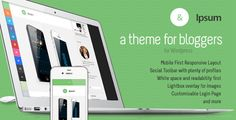 Ipsum Social Blogging Responsive Wordpress Themeu - Personal Blog / Magazine