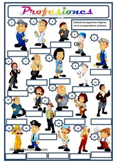 28 Gratuito ELE profesiones worksheets