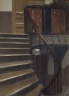 Edward Hopper, Stairway at 48 rue de Lille, Paris, 1906