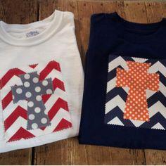 Girls Initial Applique Cross Shirt.. Easter Applique Shirt..Cross Shirt..Personalized Custom  TShirt