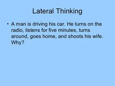 Lateral ThinkingYou are driving down the road in your car on a wild, stormy night, when you pass by a bus stop and you see three people waiting for the b… Impossible Riddles With Answers, Funny Riddles With Answers, Tricky Riddles, Jokes And Riddles, Challenging Riddles, Mystery Riddles, Brain Teasers Riddles, Brain Teasers With Answers, Mind Puzzles