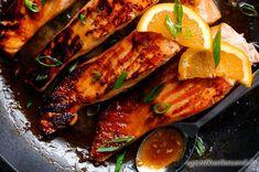 Mézes-Narancsos Lazac Ropogósra sütve - Észak-Amerikai Konyha - Receptek Messzeföldről - Egzotikus fűszerek