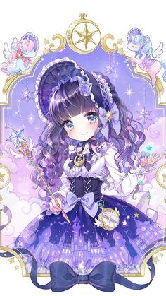 Yume Kawaii Drawings - I would like to have a wonderful dream♡ Manga Kawaii, Loli Kawaii, Kawaii Anime Girl, Anime Art Girl, Anime Girls, Anime Chibi, 5 Anime, Chica Anime Manga, Female Anime